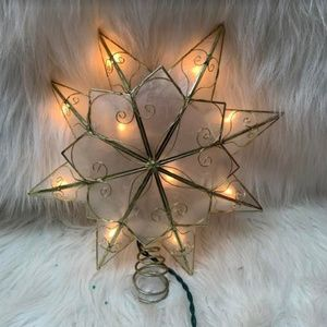 """Beautiful Christmas Star Holiday Tree Topper 11"""""""